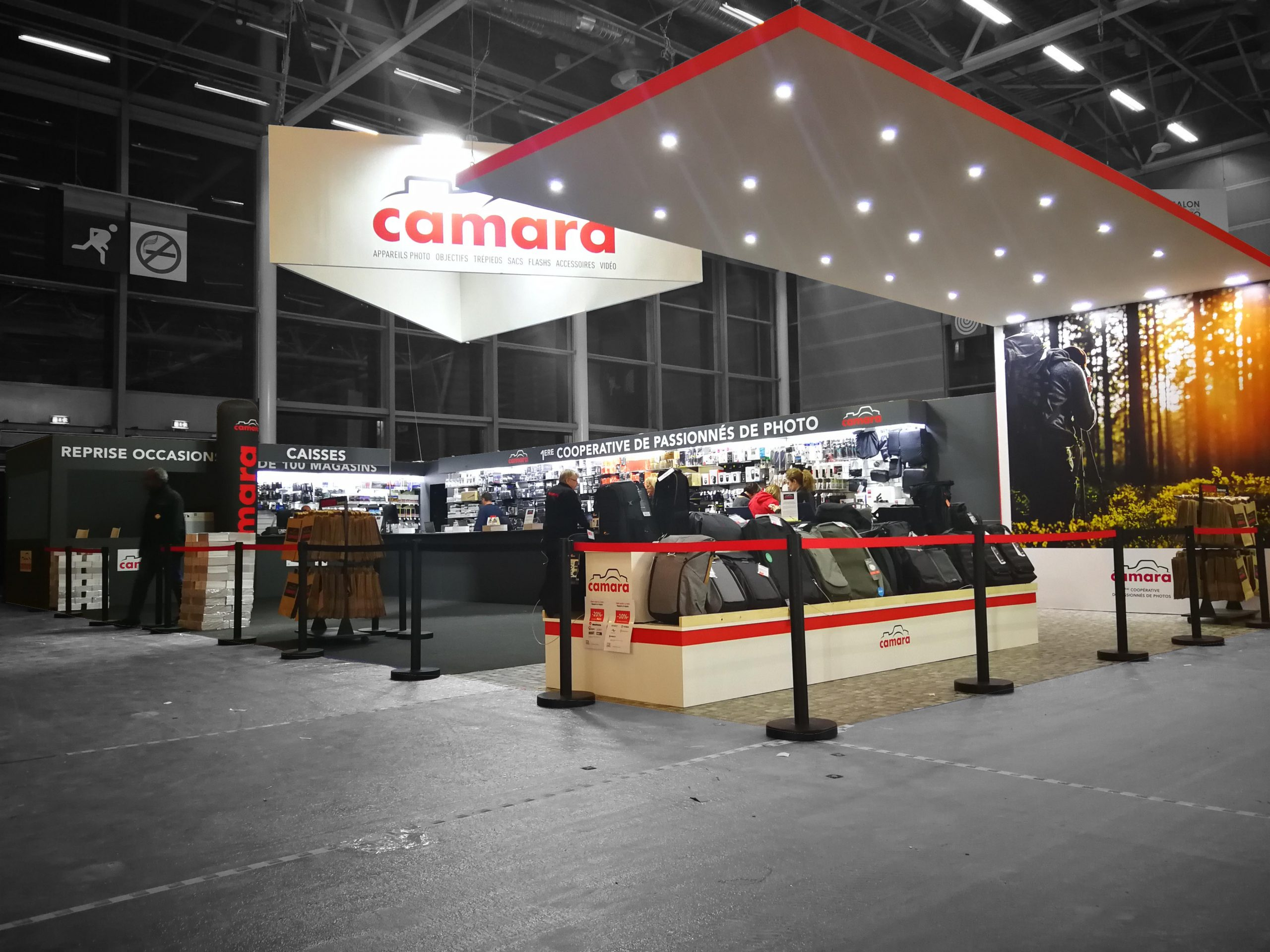 Stand sur-mesure CAMARA sur le SALON DE LA PHOTO