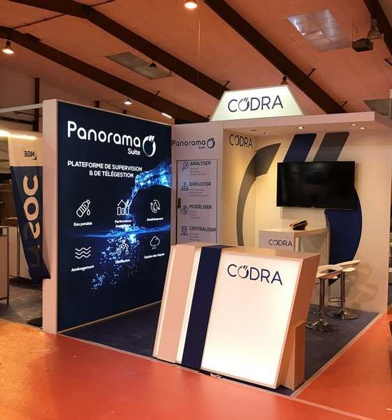 Stand réutilisable CODRA au salon SMART INDUSTRIES