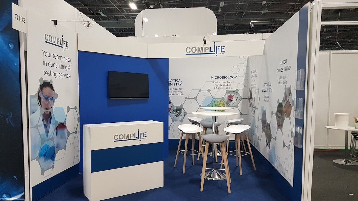 Stand sur-mesure COMPLIFE au Salon IN-COSMETICS GLOBAL 2019