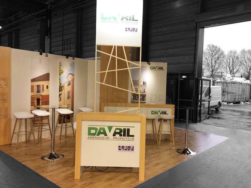 Stand sur-mesure DAVRIL au Salon de l'IMMOBILIER NEUF