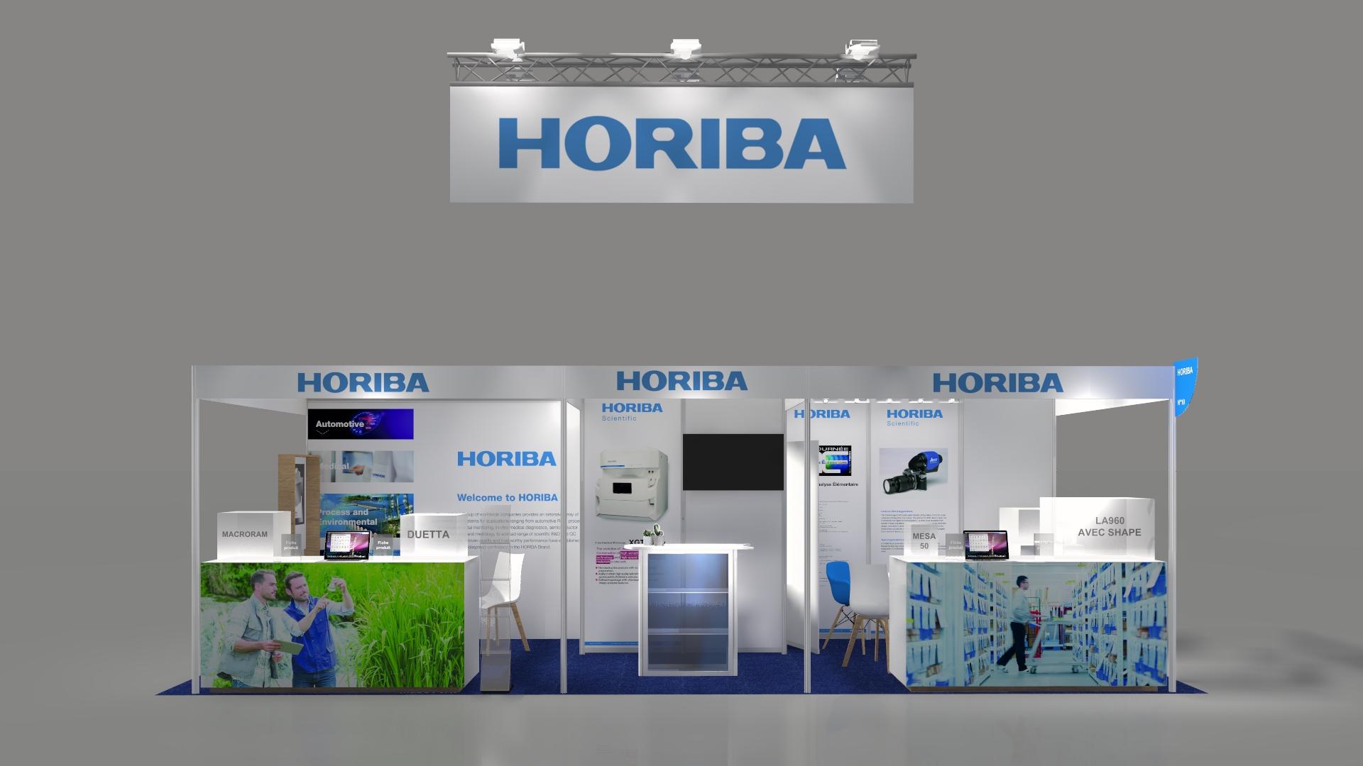 Stand sur-mesure HORIBA sur le FORUM LABO 2020