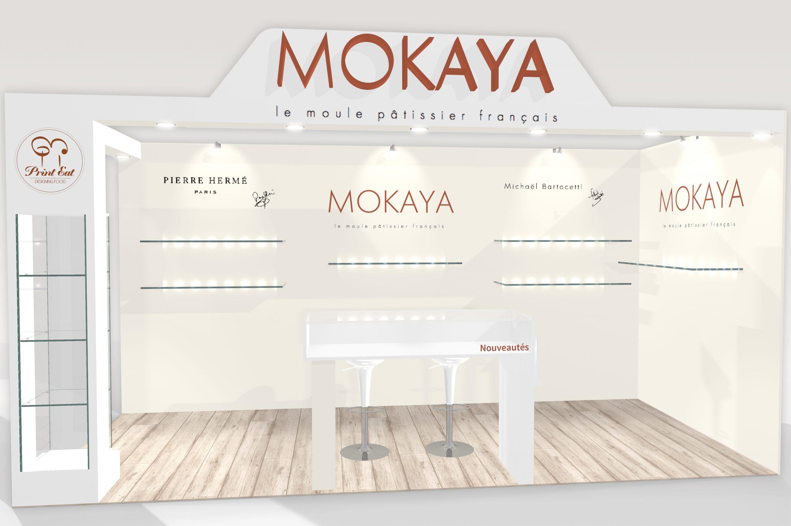 Stand sur-mesure MOKAYA sur le salon du CHOCOLAT