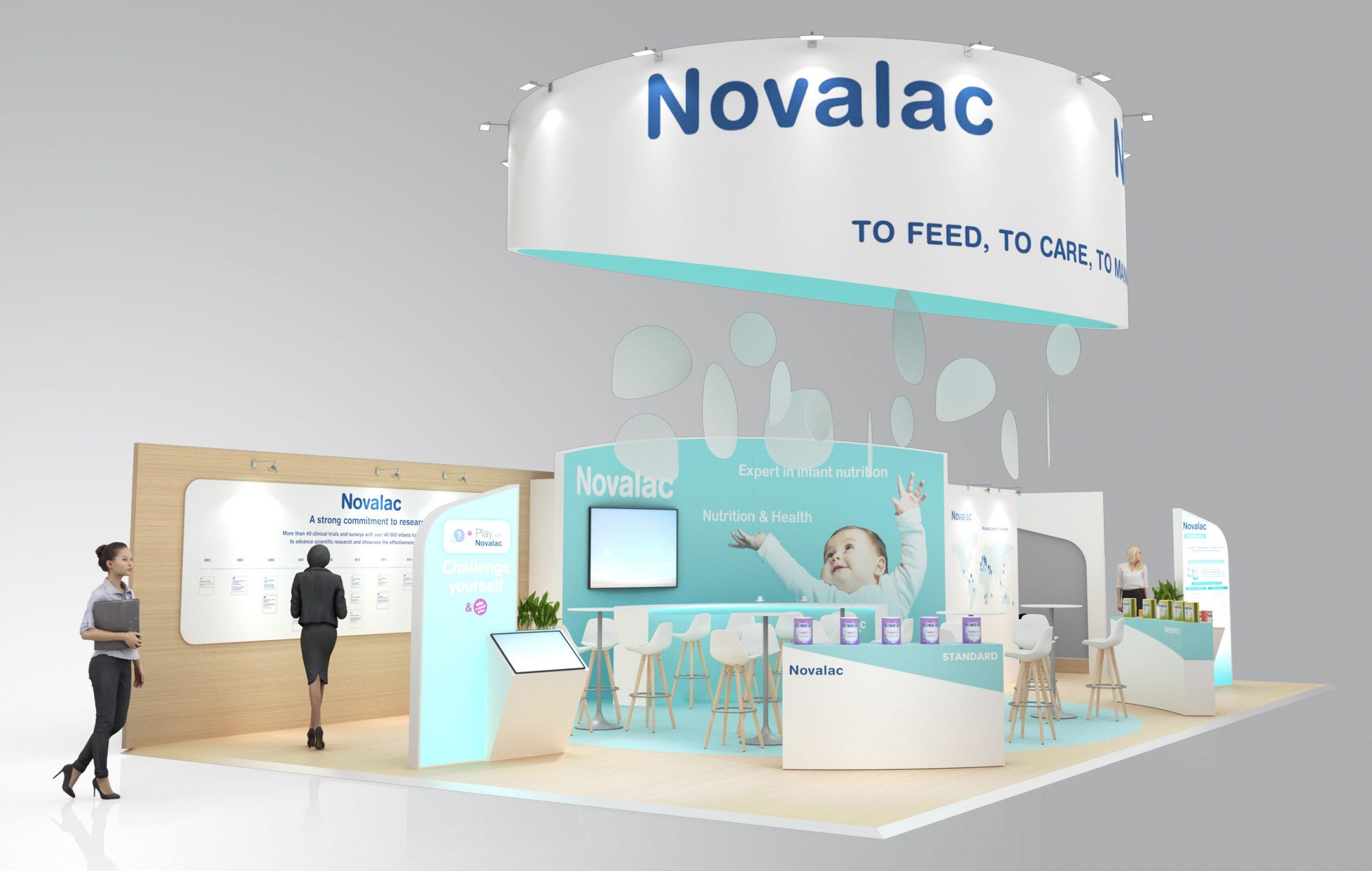 Stand sur-mesure NOVALAC sur deux salons
