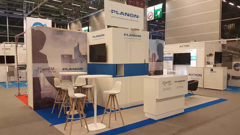 Stand sur-mesure PLANON SOFTWARE au salon BIM WORLD