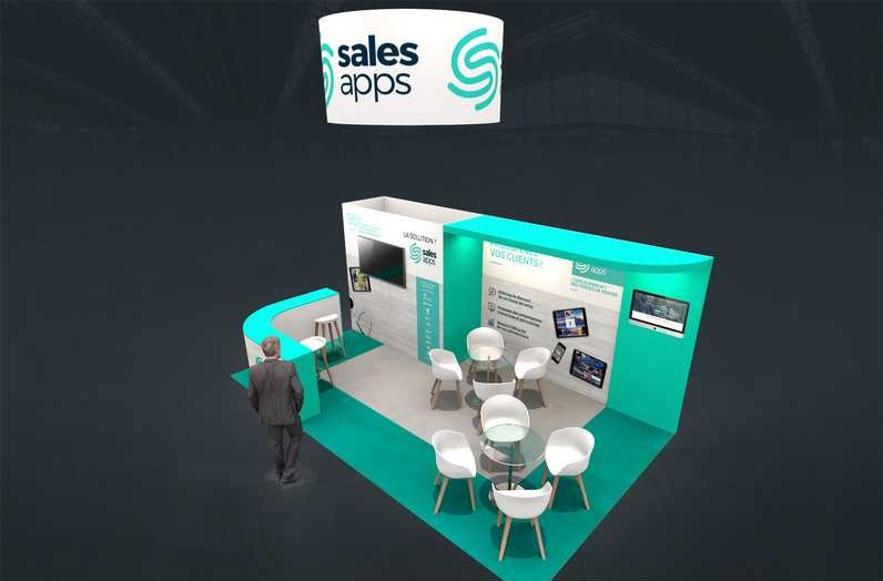 Stand sur-mesure SALES APP au salon E-MARKETING