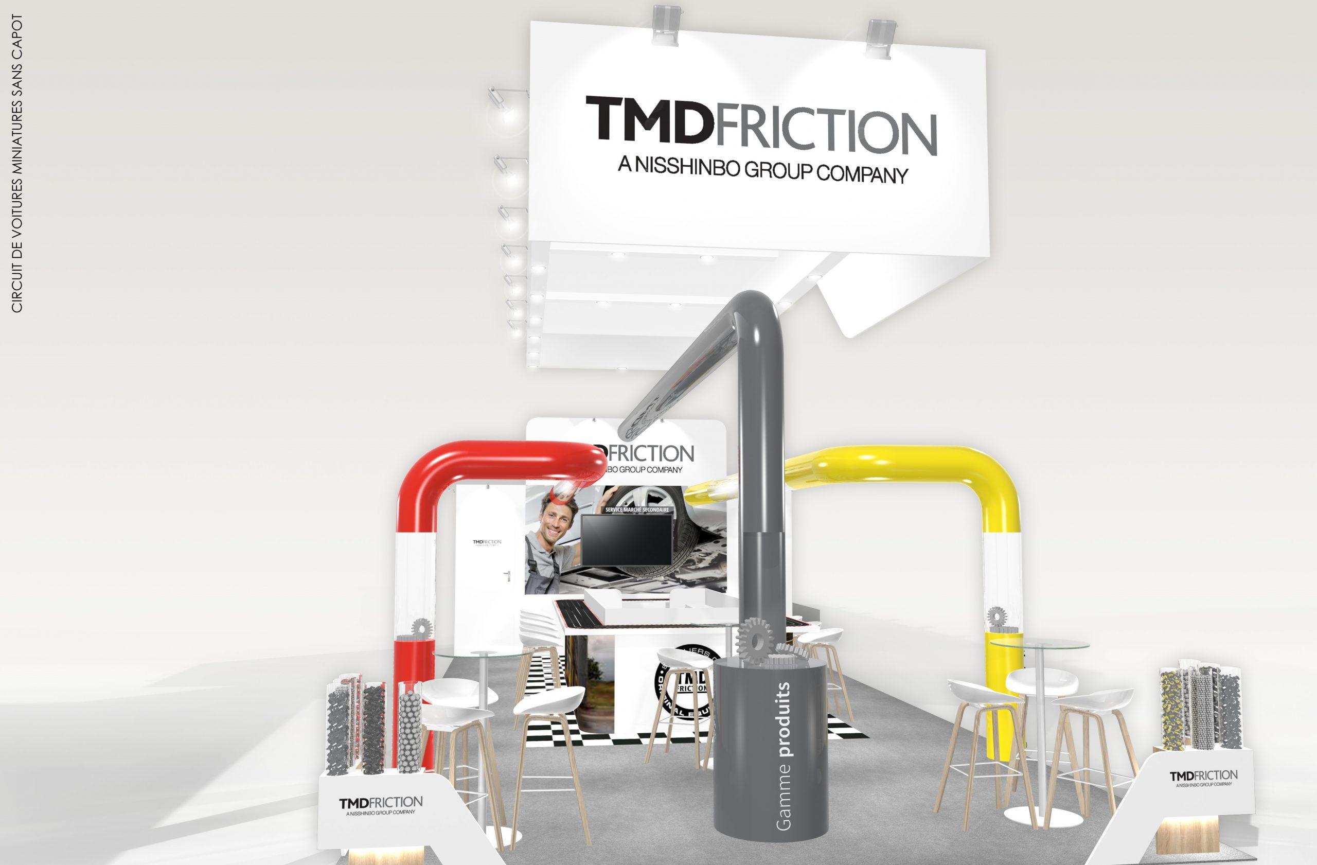 Stand sur-mesure TMD FRICTION sur Solutrans