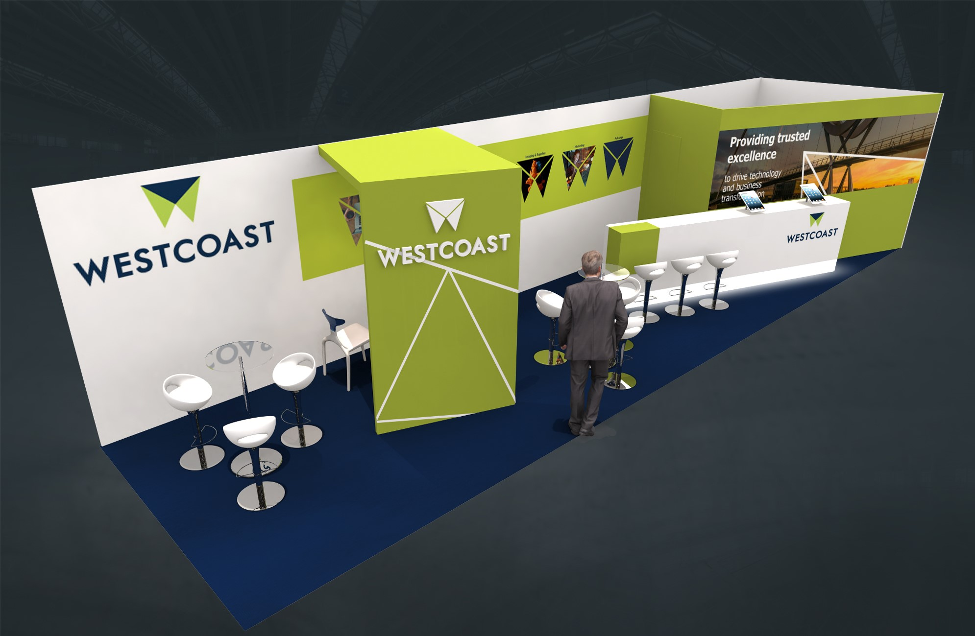 Stand sur-mesure WESTCOAST FRANCE sur IT-PARTNERS