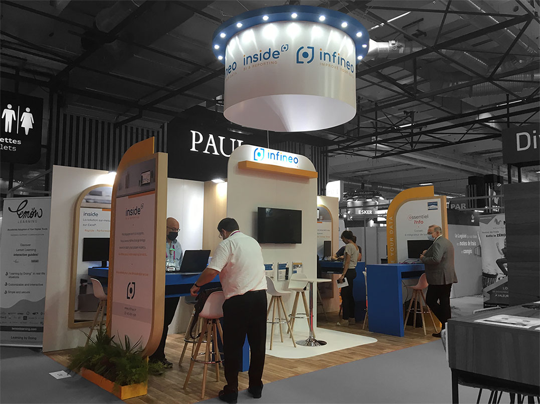 STAND INFINEO, SALON SOLUTIONS, STANDISTE