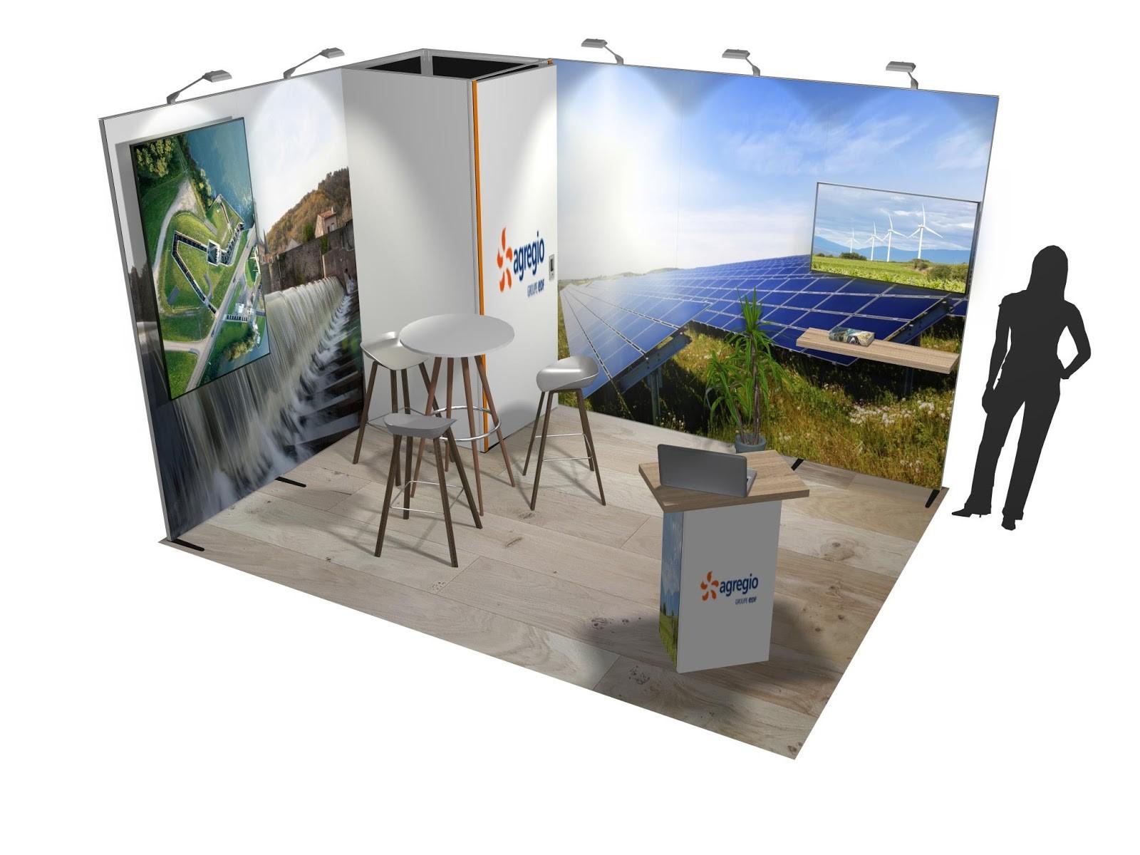 Stand sur-mesure AGREGIO pour plusieurs expositions sur toute la France
