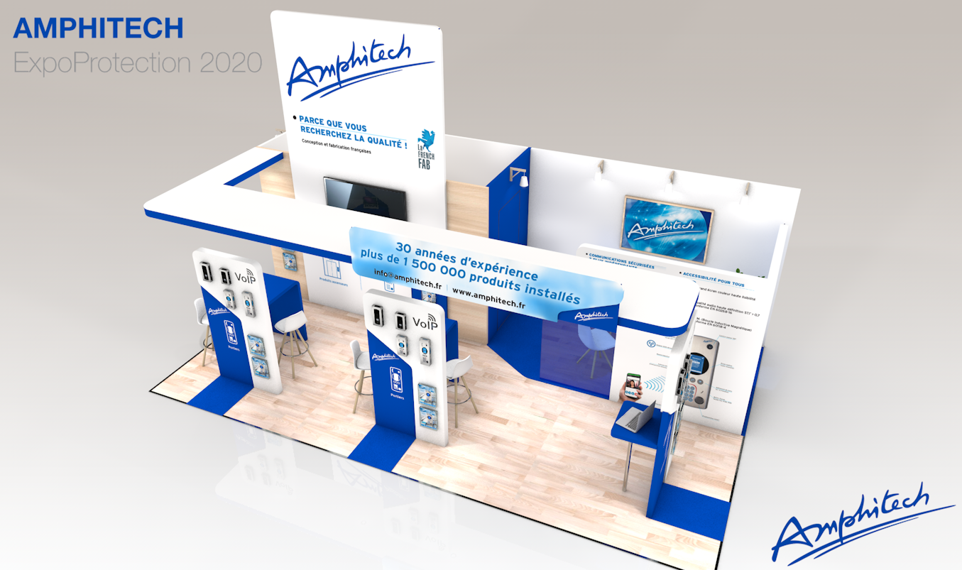 Stand sur-mesure AMPHITEC sur le salon EXPOPROTECTION
