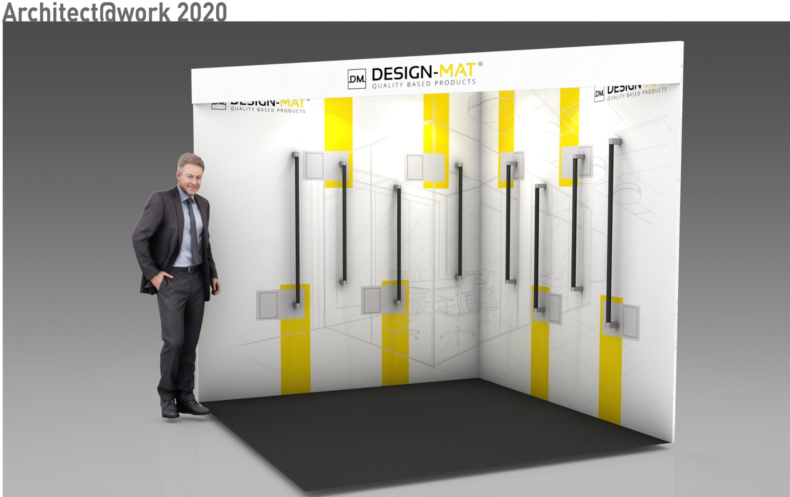 Grand succès pour R2 Stand-Event qui design un stand sur-mesure pour DESIGN-MAT à l'occasion de deux salons