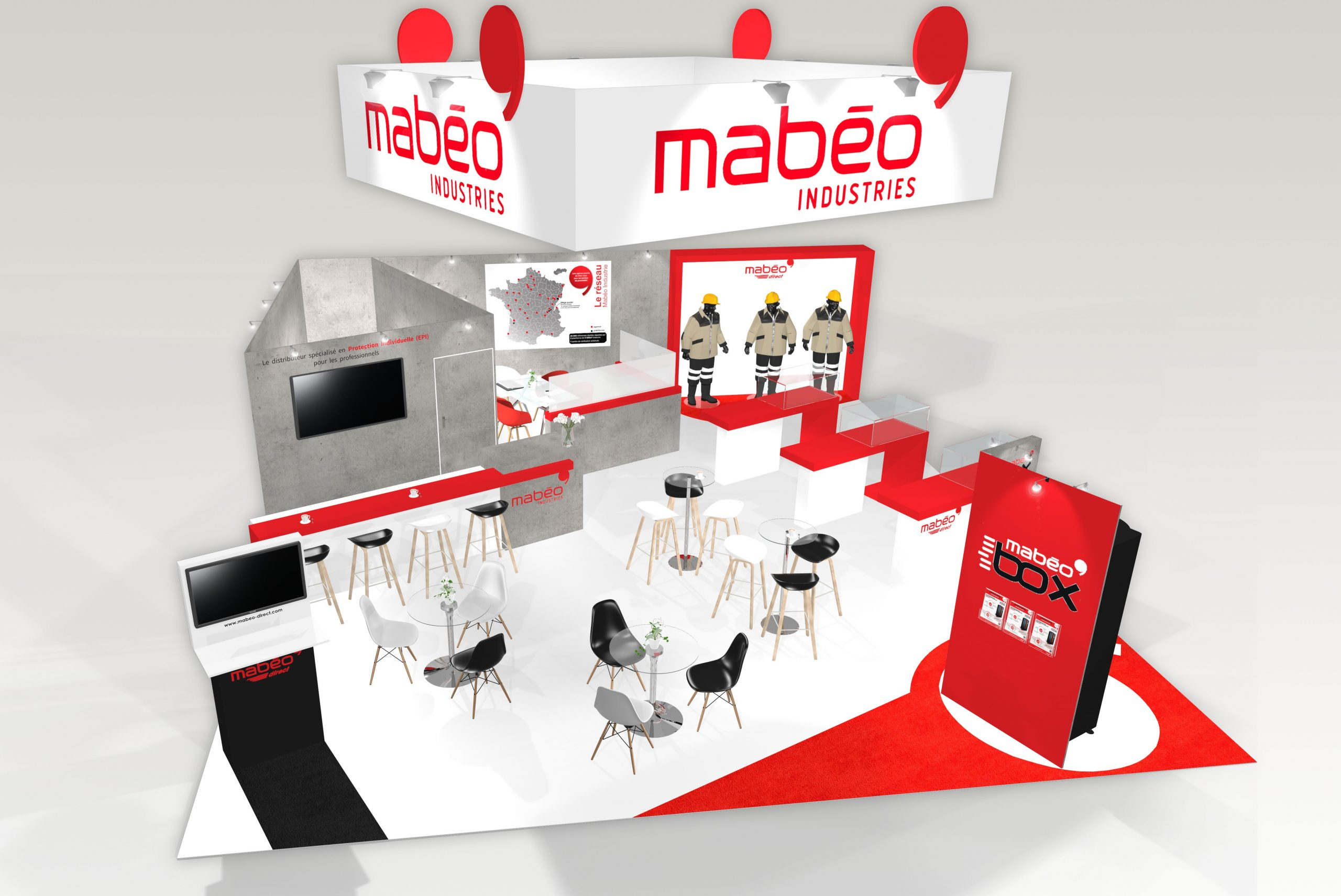 Stand sur-mesure MABEO INDUSTRIES sur le salon EXPOPROTECTION