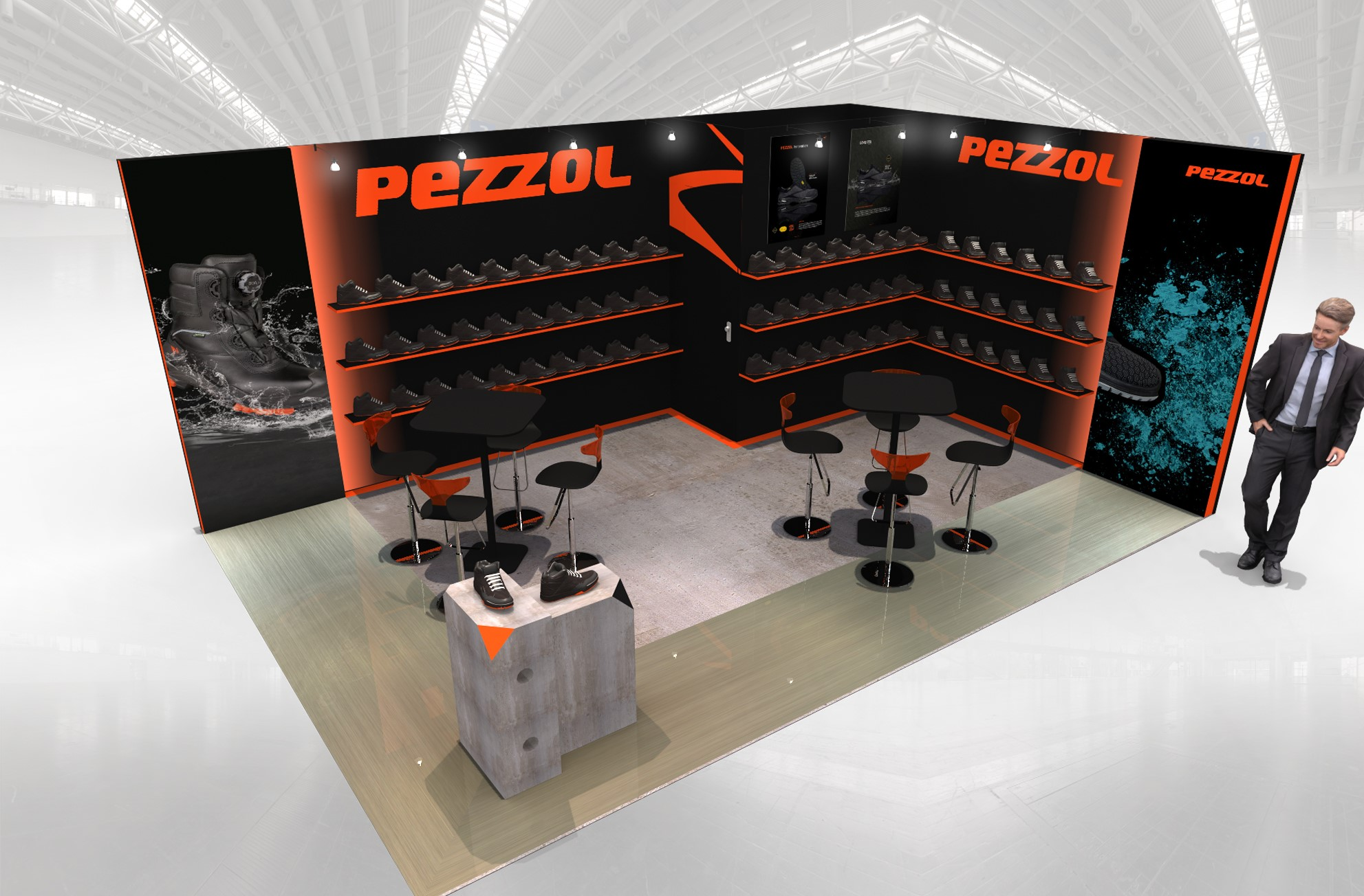 Stand sur-mesure PEZZOL sur le salon EXPOPROTECTION