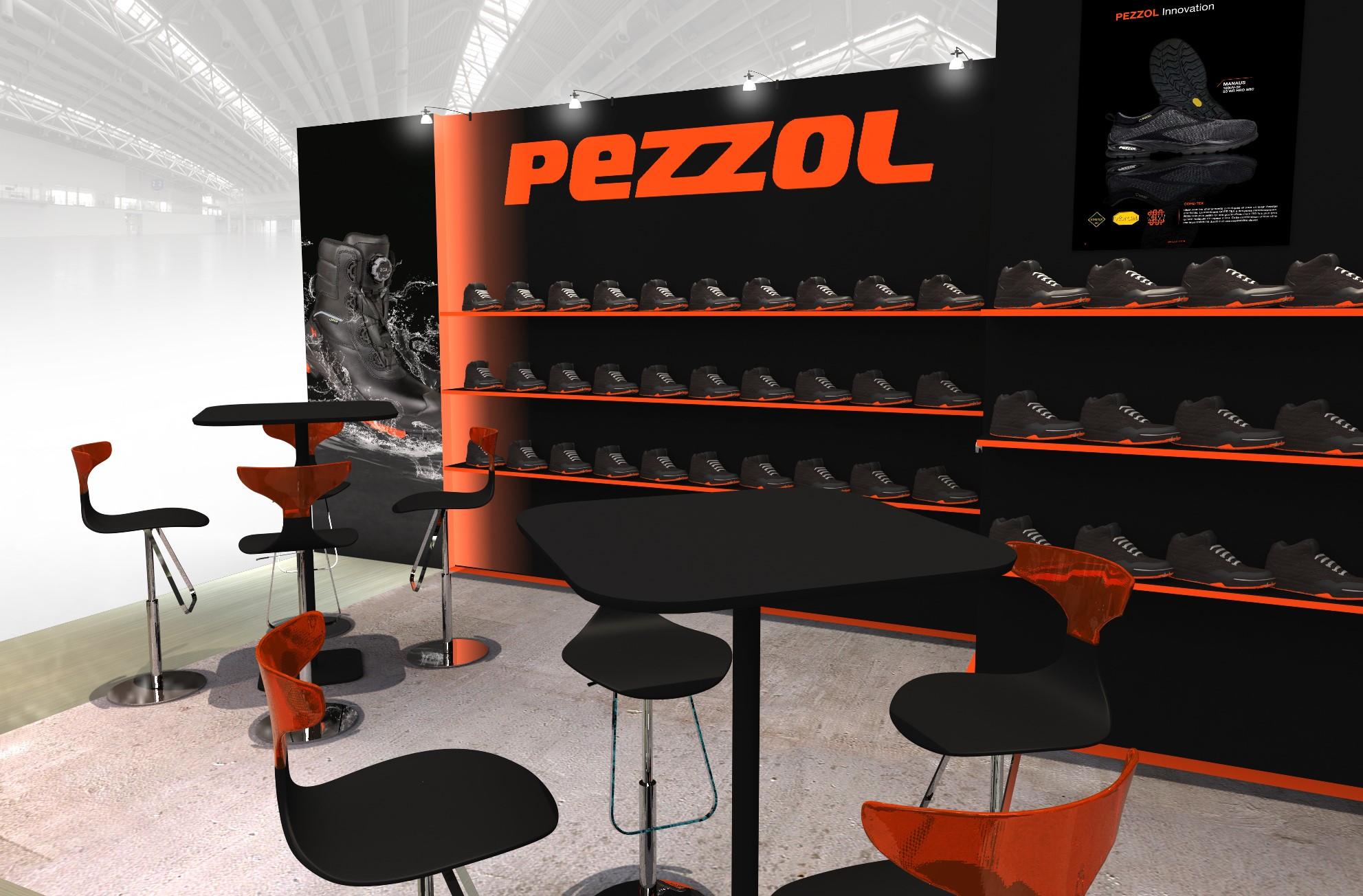 Stand sur-mesure PEZZOL sur le salon EXPOPROTECTION